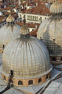Domes Of The San Marco Basilica Poster by Sami Sarkis