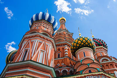 Domes Of The Vasily The Blessed Cathedral - Featured 2 Poster by Alexander Senin