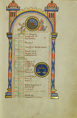 Domitian ,  Zodiacal Sign Of Libra Unknown Hildesheim Poster by Litz Collection