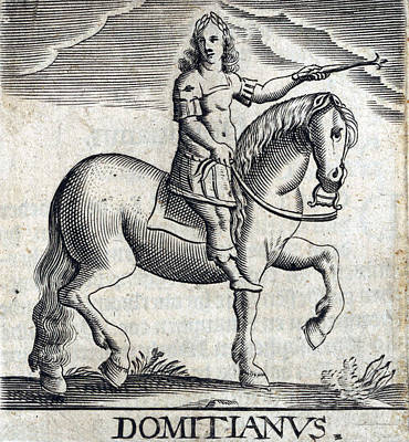 Domitian, 11th Emperor Of Rome Poster by Folger Shakespeare Library
