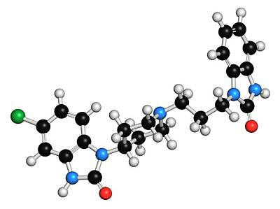 Domperidone Anti-nausea Drug Molecule Poster