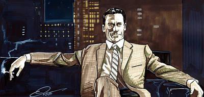 Don Draper Poster by Dave Olsen