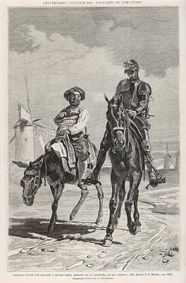 Don Quixote And Sancho Panza  Discuss Poster