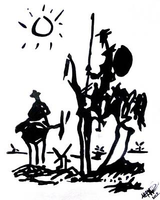 Poster featuring the painting Don Quixote by Michelle Dallocchio