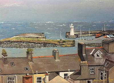 Poster featuring the painting Donaghadee Ireland Irish Sea by Brenda Brown