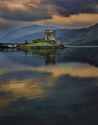 Donan Castle Reflection Poster
