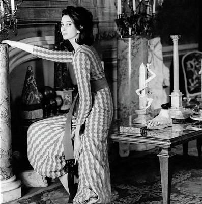 Donna Allegra Caracciolo Di Castagneto Wearing Poster
