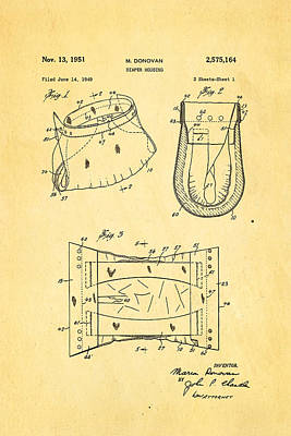 Donovan Disposable Diaper Patent Art 1951 Poster by Ian Monk