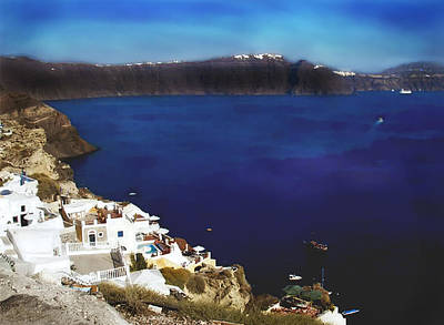 Don't Cry For Me Santorini...the Truth Is I Never Left You Poster by Judy Paleologos