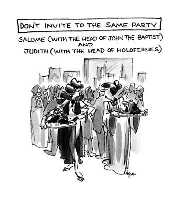 Don't Invite To The Same Party-salome Poster