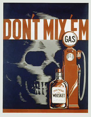 Poster featuring the mixed media Don't Mix'em by American Classic Art