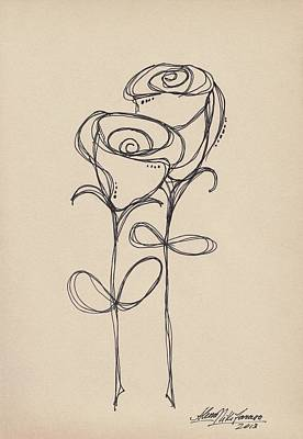 Doodle Roses Poster