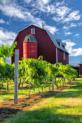 Door County Cherry Orchard And Vineyard Poster by Christopher Arndt