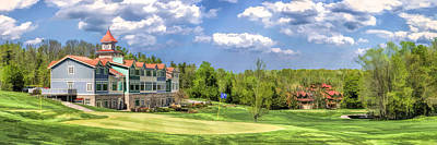Door County Little Sweden Resort Golf Course Panorama Poster by Christopher Arndt