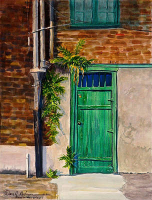Poster featuring the painting Door In New Orleans by Dan Redmon