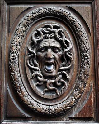 Door In Paris Medusa Poster