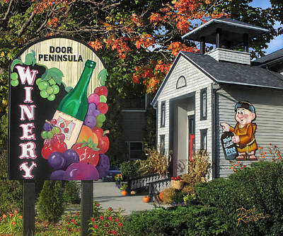 Door Peninsula Winery Poster by Doug Kreuger