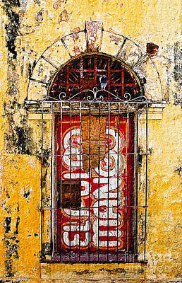 Door Series - Yellow Poster