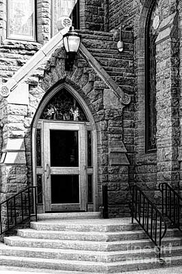 Door To Sanctuary Series Image 3 Of 4 Poster by Lawrence Burry