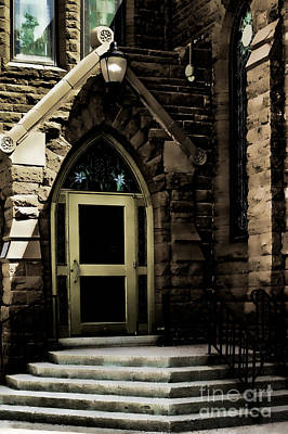 Door To Sanctuary Series Image 4 Of 4 Poster by Lawrence Burry