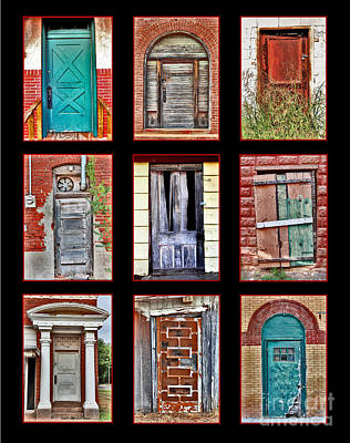 Doors Of Distinction Poster by Pattie Calfy