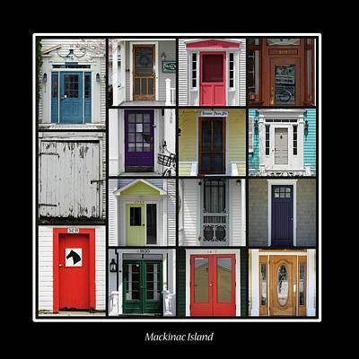 Doors Of Mackinac Island Poster