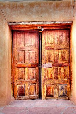 Doors To The Inner Santuario De Chimayo Poster
