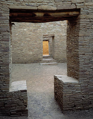 Doorway In Pueblo Bonito, Chaco Canyon Poster by Greg Probst