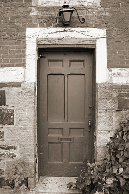 Poster featuring the photograph Doorway In Sepia by Brooke T Ryan