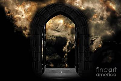Doorway To Heaven Or Hell Poster