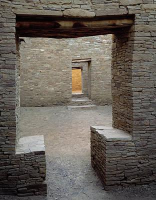 Doorways In Pueblo Bonito Ruin At Chaco Poster