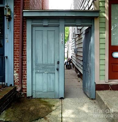 Doorways Of Bordentown Series - Door 2 Poster by Sally Simon