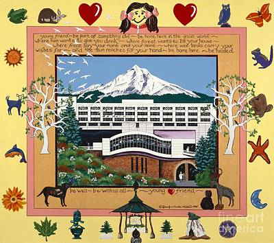 Dorenbecher Hospital Poster by Jennifer Lake