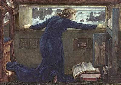 Dorigen Of Bretaigne Longing For The Safe Return Of Her Husband Poster by Sir Edward Coley Burne-Jones