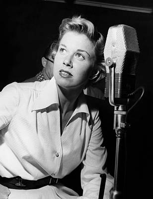 Doris Day, In The Recording Studio, 1950 Poster by Everett