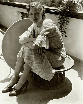 Dorothy Wilson Wearing A Plaid Dress Poster by Imogen Cunningham