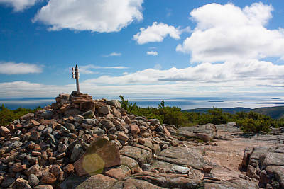 Poster featuring the photograph Dorr Mountain Summit - Acadia by Kirkodd Photography Of New England
