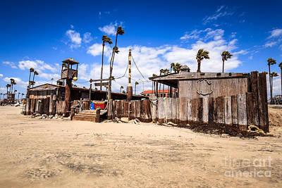 Dory Fishing Fleet Market In Newport Beach California Poster by Paul Velgos