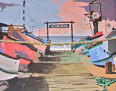 Dory Fishing Fleet -newport Beach Poster
