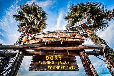 Dory Fishing Fleet Sign Newport Beach Balboa Peninsula Californi Poster by Paul Velgos