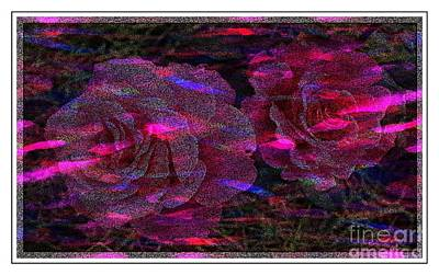 Dots Of Light And Roses Poster