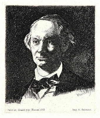 Édouard Manet French, 1832 - 1883. Charles Baudelaire De Poster