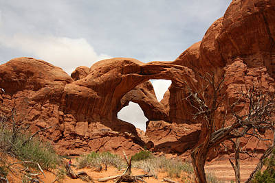 Double Arch In Arches Np Poster