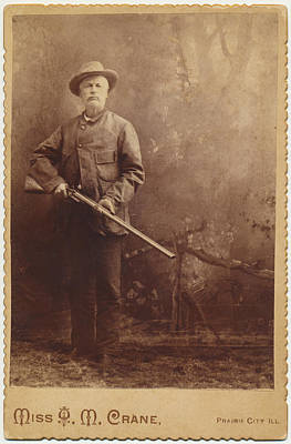 Poster featuring the photograph Double Barrel Shotgun Hunter by Paul Ashby Antique Image