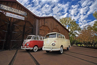 Double Cab And 23 Window Poster by Peter Tellone
