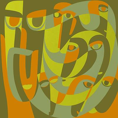 Double Exposure Of Existence, 2000 Acrylic On Board Poster by Ron Waddams