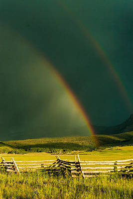 Poster featuring the photograph Double Rainbow by Jay Stockhaus