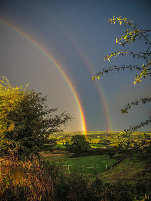 Double Rainbow Over County Clare Poster