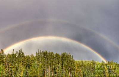 Poster featuring the photograph Double Rainbow by Wanda Krack
