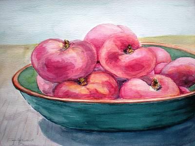 Doughnut Peach Poster by Jennifer Kwon